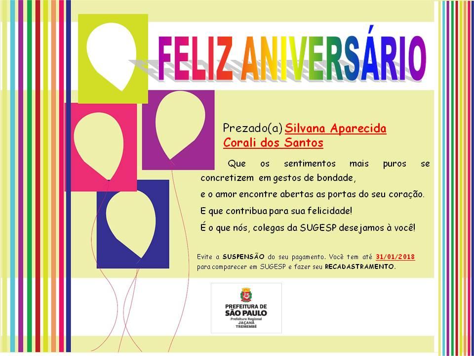 Feliz Aniversário 2018 Tia Lucia: Feliz Aniversário!!! Silvana Aparecida Corali Dos Santos